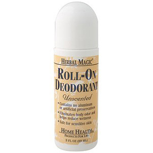 Herbal Magic Roll-On Deodorant, Unscented, 3 oz from Home Health