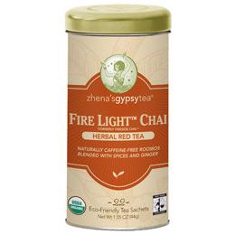 Organic Herbal Red Tea, Fire Light Chai, 6 x 22 Tea Bags/Case, Zhena's Gypsy Tea