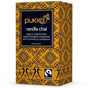 Organic Herbal Tea, Vanilla Chai, 20 Tea Bags, Pukka Herbs