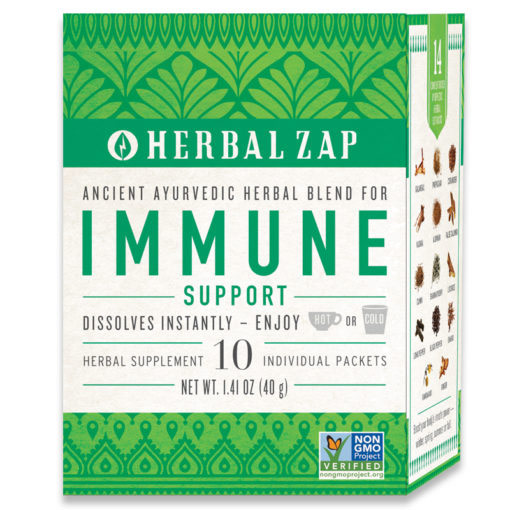 Herbal Zap Immune Support Drink Mix, Ancient Ayurvedic Herbal Blend, 10 Packets