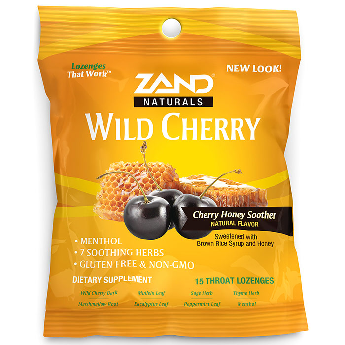 HerbaLozenge Wild Cherry Honey Soother, 15 Throat Lozenges, Zand