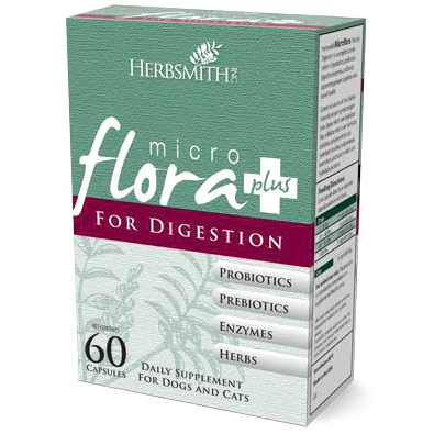 Herbsmith Microflora Plus Digestion for Dogs & Cats, 60 Capsules