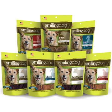 Herbsmith Smiling Dog Treats - Freeze Dried Duck, 2.5 oz