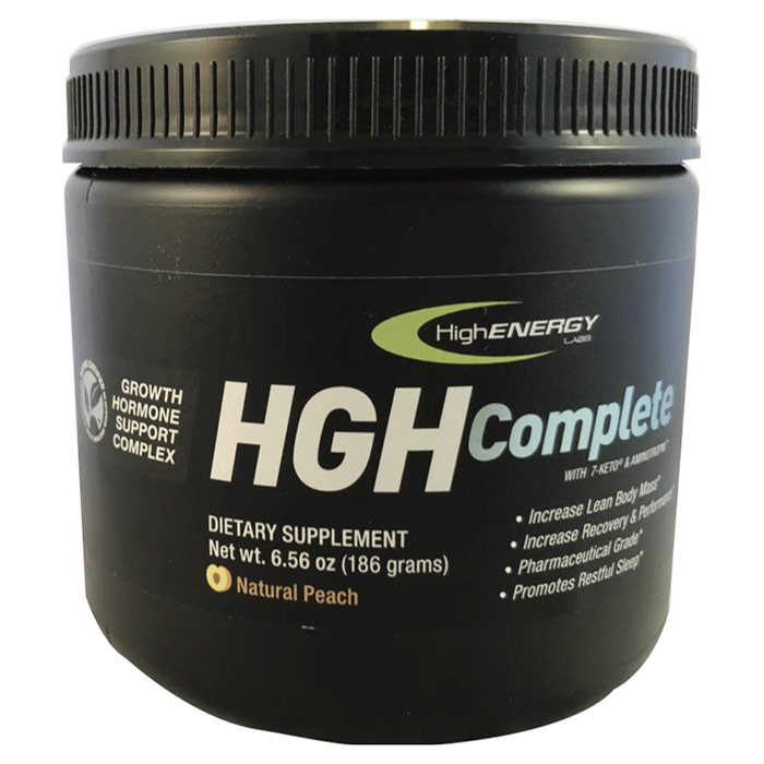 HGH Complete Powder Drink Mix, Natural Peach Flavor, 6.56 oz, High Energy Labs