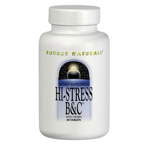 Hi Stress B & C Vitamins with Herbs 120 tabs from Source Naturals