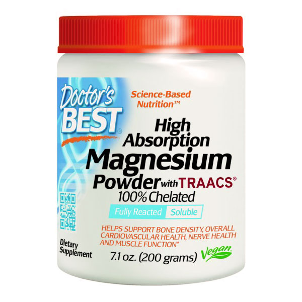 High Absorption 100% Chelated Magnesium Powder, 200 g, Doctors Best