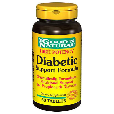 Diabetic Support Formula High Potency, 60 Tablets, Good 'N Natural