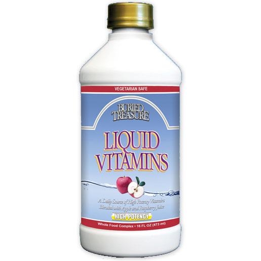 High Potency Liquid Vitamins, 16 oz, Buried Treasure Liquid Nutrients