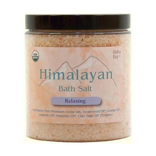 Organic Himalayan Bath Salts, Relaxing, 24 oz, Aloha Bay