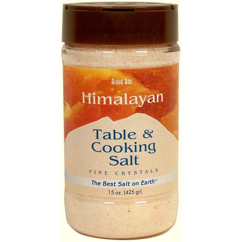 Image of Table & Cooking Salt, Himalayan Crystal Salt, Fine in Dispenser, 15 oz, Aloha Bay
