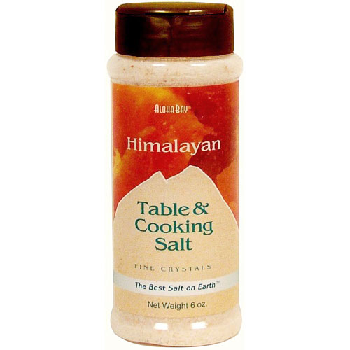 Image of Table & Cooking Salt, Himalayan Crystal Salt, Fine in Dispenser, 6 oz, Aloha Bay