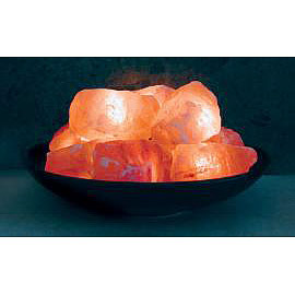Himalayan Salt Crystal Fire Bowl Lamp, Aloha Bay - CLICK HERE TO LEARN MORE