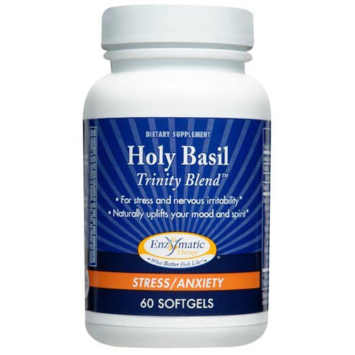 Holy Basil Trinity Blend, 60 Softgels, Enzymatic Therapy