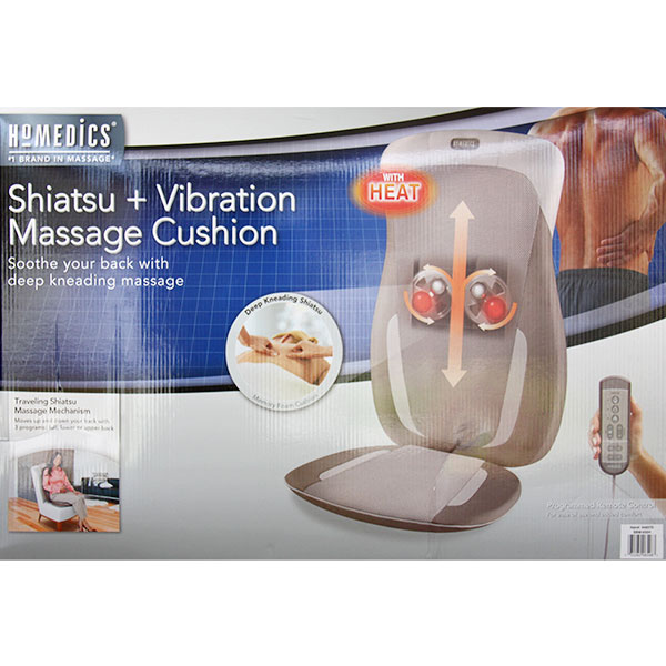 HoMedics Shiatsu + Vibration Massage Cushion, With Soothing Heat