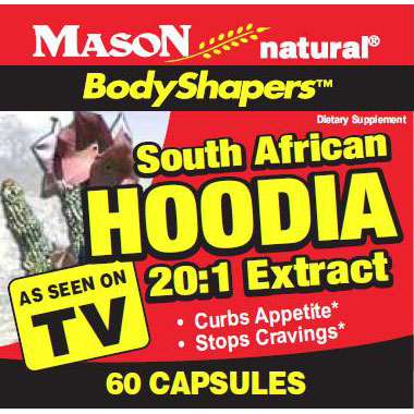 South African Hoodia 20:1 Extract, 60 Capsules, Mason Natural