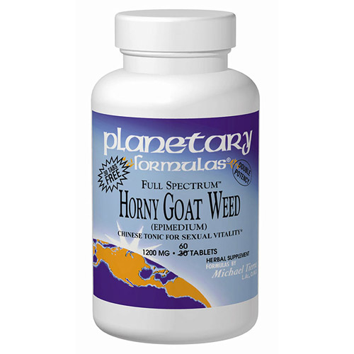 Horny Goat Weed (Epimedium) 600mg Full Spectrum 90 tabs, Planetary Herbals