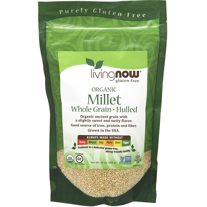 Organic Millet, Hulled, 16 oz, NOW Foods