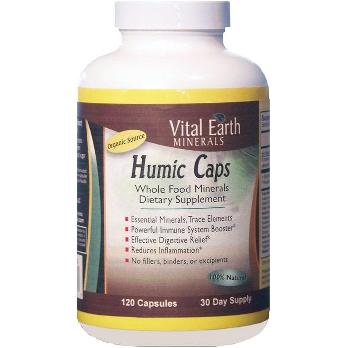 Humic Caps, Whole Food Minerals, 120 Capsules, Vital Earth Minerals