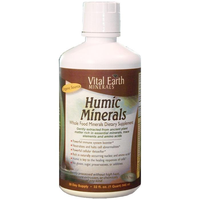 Humic Minerals Liquid, Whole Food Minerals, 32 oz, Vital Earth Minerals