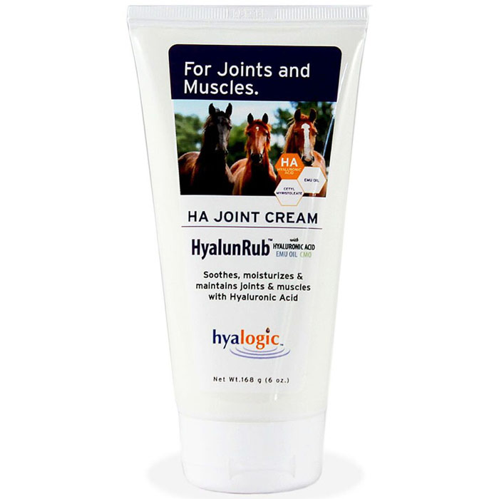 HyalunRub Moisturizing Equine Joint Cream, 6 oz, Hyalogic