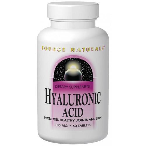 Hyaluronic Acid 100 mg, 60 Tablets, Source Naturals (Vitamins Supplements - Hyaluronic Acid)