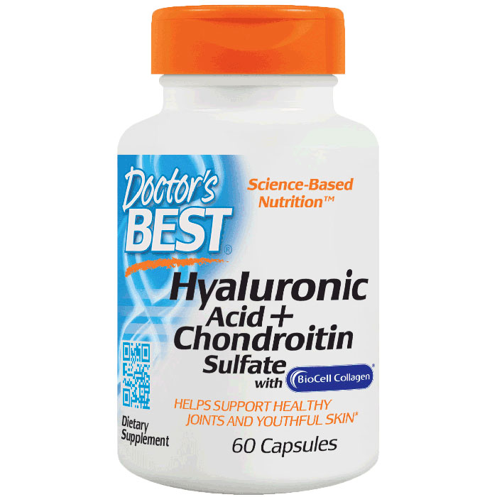 Hyaluronic Acid + Chondroitin Sulfate Caps, 60 Capsules, Doctors Best