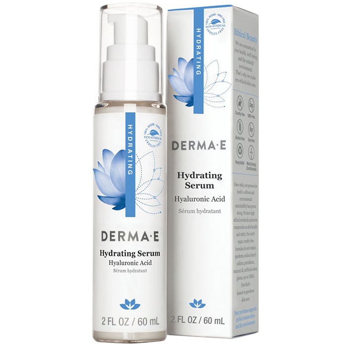 Derma E Hydrating Serum with Hyaluronic Acid, 2 oz