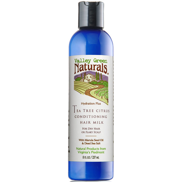 Hydration Plus Tea Tree Citrus Conditioning Hair Milk, 8 oz, Valley Green Naturals