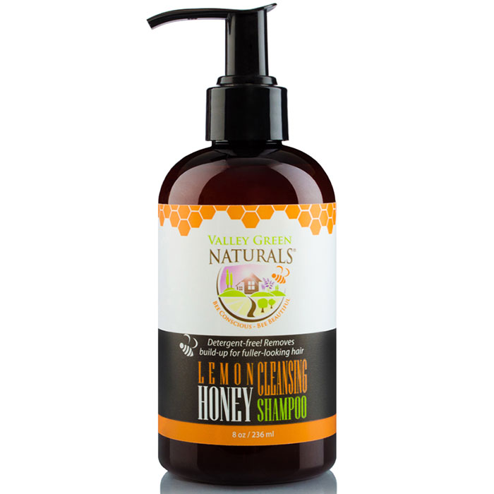 Lemon Honey Cleansing Shampoo, 8 oz, Valley Green Naturals