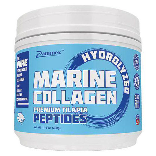 Hydrolyzed Marine Collagen Peptides, 11.3 oz, Zammex Nutrition