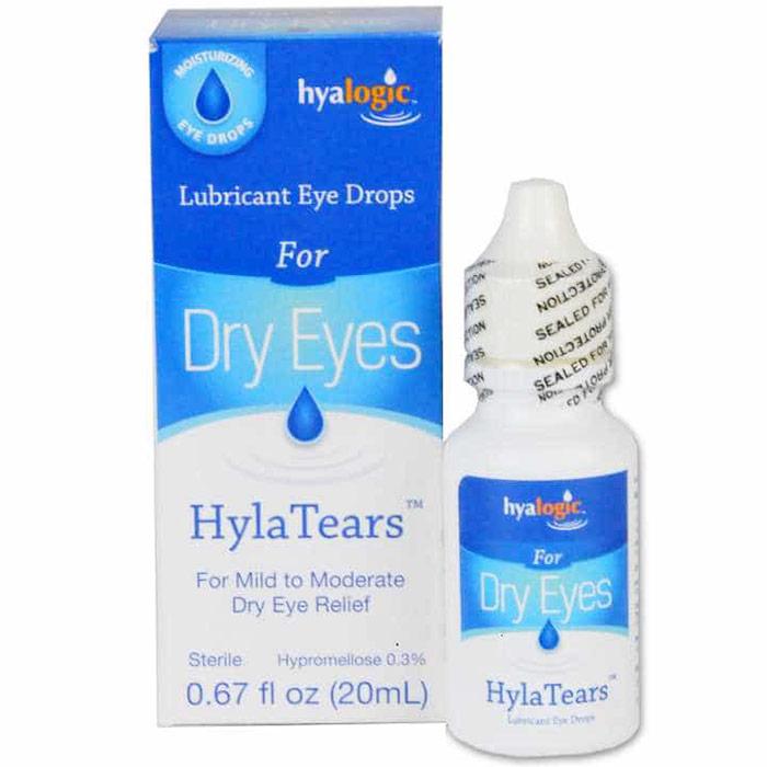 HylaTears Lubricant Eye Drops for Dry Eyes, 0.67 oz, Hyalogic