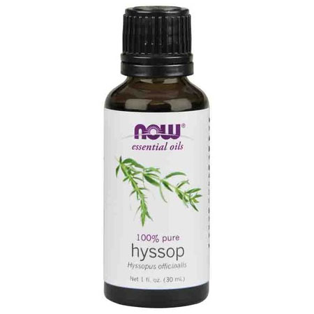 Hyssop Oil, Pure Essential Oil 1 oz, NOW Foods