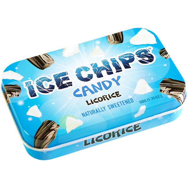 Ice Chips Licorice Xylitol Candy, 1.76 oz (50 g)