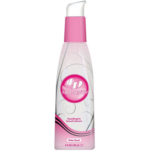 ID Moments Hypoallergenic Sensual Lubricant, Water Based (Pump), 4 oz, ID Lubricants