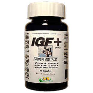 IGF Plus, Growth Formula, 30 Capsules, 4 Organics