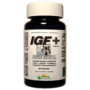 IGF Plus, Growth Formula, 60 Capsules, 4 Organics