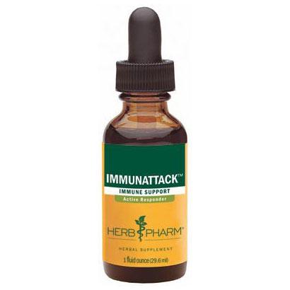 Immunattack Compound Liquid, Immune System Support, 1 oz, Herb Pharm