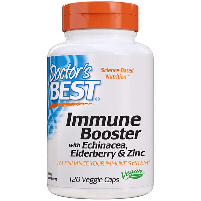 Immune Booster with Echinacea, Elderberry & Zinc, 120 Veggie Caps, Doctors Best