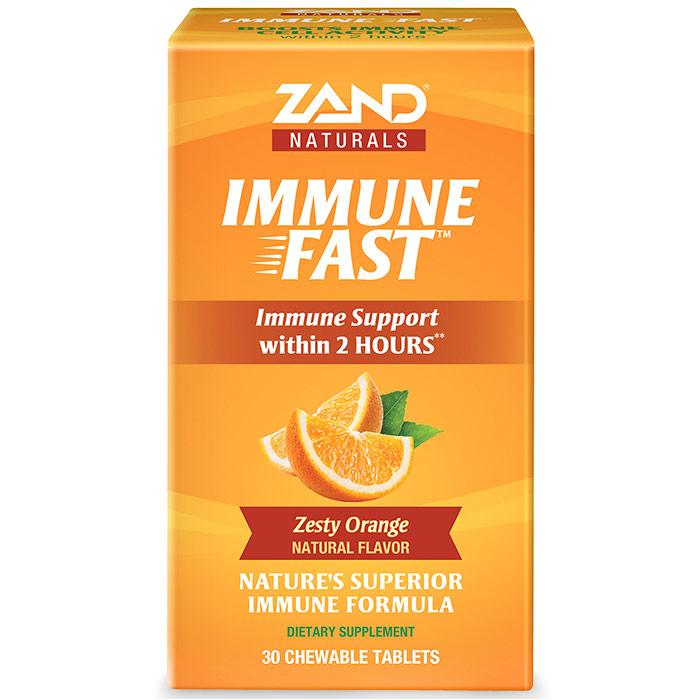 Immune Fast, Zesty Orange, 30 Chewable Tablets, Zand