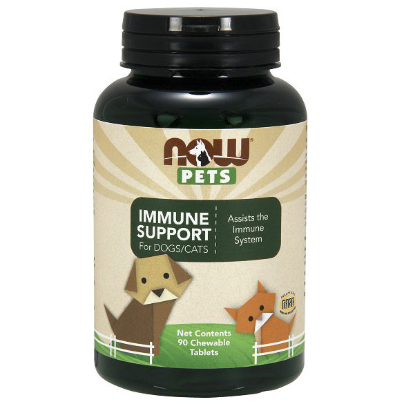 Immune Support, For Cats & Dogs, 90 Chewable Tablets, NOW Foods