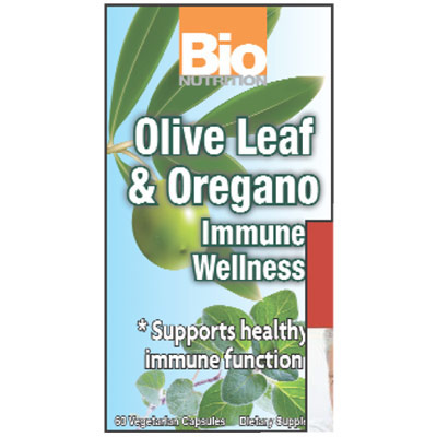 Immune Wellness, Olive Leaf & Oregano, 60 Vegetarian Capsules, Bio Nutrition Inc.