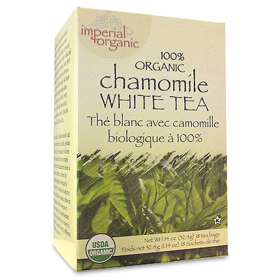 Imperial Organic Chamomile White Tea, 18 Tea Bags, Uncle Lee's Tea