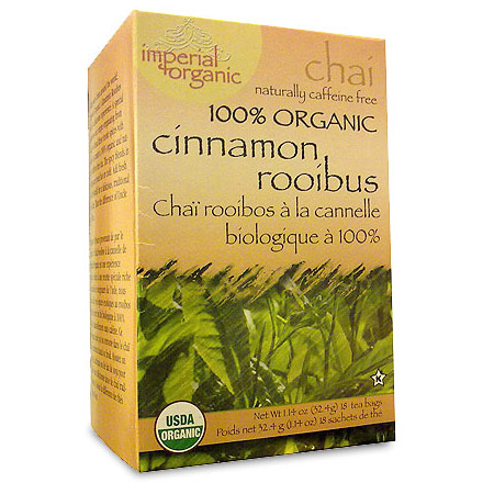 Imperial Organic Cinnamon Rooibus Chai Tea, 18 Tea Bags, Uncle Lee's Tea