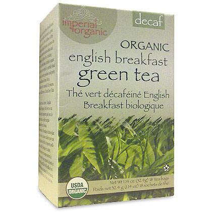 Imperial Organic Decaf English Breakfast Green Tea, 18 Tea Bags, Uncle Lee's Tea