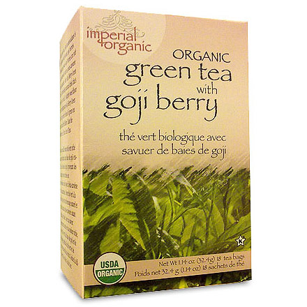 Imperial Organic Green Tea with Goji Berry, 18 Tea Bags, Uncle Lee's Tea