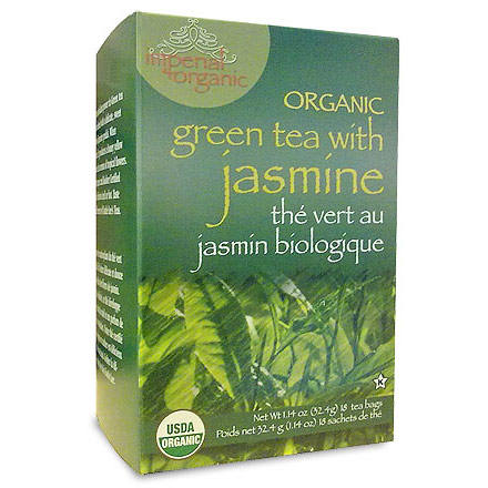 Imperial Organic Green Tea with Jasmine, 18 Tea Bags, Uncle Lee's Tea