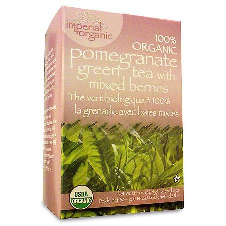 Imperial Organic Pomegranate Green Tea, 18 Tea Bags, Uncle Lee's Tea