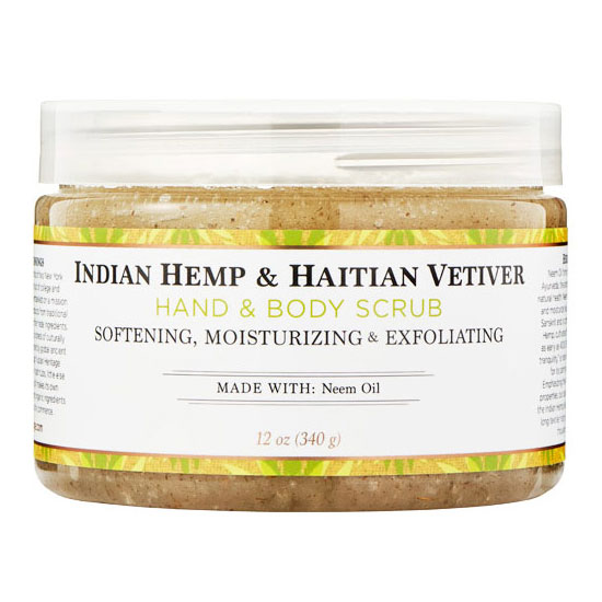 Indian Hemp & Haitian Vetiver Hand & Body Scrub, 12 oz, Nubian Heritage