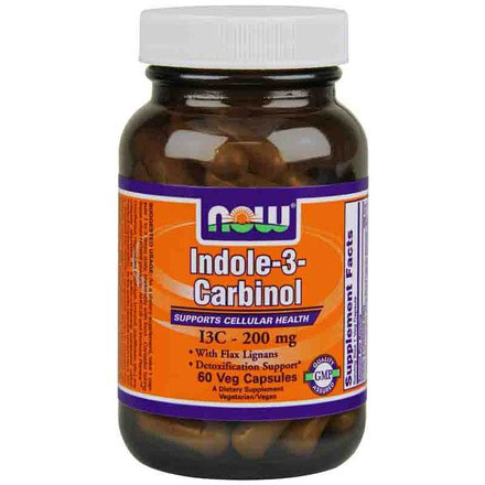 Indole-3-Carbinol 200 mg, I3C, 60 Vcaps, NOW Foods