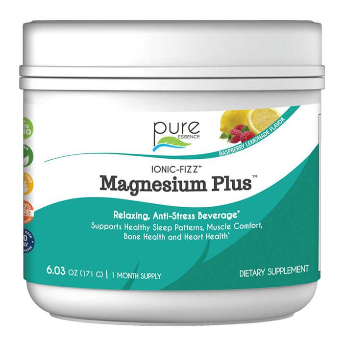 Ionic-Fizz Magnesium Plus Powder - Raspberry Lemonade, 171 g, Pure Essence Labs